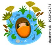 biblical scene of baby moses... | Shutterstock .eps vector #1033426273