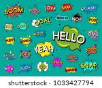 collection of explosion... | Shutterstock . vector #1033427794