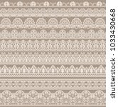 horizontally seamless beige... | Shutterstock .eps vector #1033430668