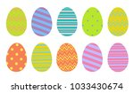 colorful easter eggs set in... | Shutterstock .eps vector #1033430674