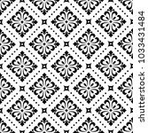 damask wallpaper. a seamless... | Shutterstock . vector #1033431484