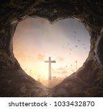 good friday concept  heart... | Shutterstock . vector #1033432870