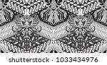 batik motif repeated pattern of ... | Shutterstock .eps vector #1033434976