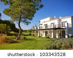 summer landscape with white...   Shutterstock . vector #103343528