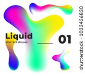 liquid vector colorful shapes.... | Shutterstock .eps vector #1033436830