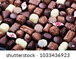 assortment of fine chocolate... | Shutterstock . vector #1033436923