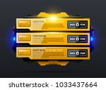three options with glowing... | Shutterstock .eps vector #1033437664