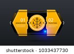 two options template in yellow... | Shutterstock .eps vector #1033437730