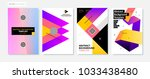set of four abstract... | Shutterstock .eps vector #1033438480