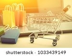 online shopping and ecommerce... | Shutterstock . vector #1033439149
