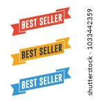best seller ribbons | Shutterstock .eps vector #1033442359