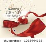 grand opening invitation card... | Shutterstock .eps vector #1033444138