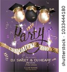 graduation party banner with... | Shutterstock .eps vector #1033444180