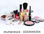 set of decorative cosmetic ... | Shutterstock . vector #1033444354