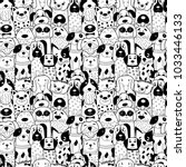 seamless pattern with black and ... | Shutterstock .eps vector #1033446133