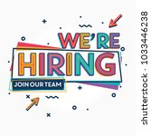 we're hiring typographic design ... | Shutterstock .eps vector #1033446238