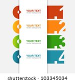 vector colorful text box | Shutterstock .eps vector #103345034