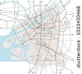 osaka  japan  transportation... | Shutterstock .eps vector #1033450468