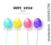 happy easter white background... | Shutterstock .eps vector #1033451758