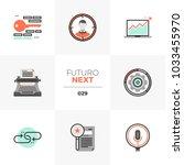 modern flat icons set of... | Shutterstock .eps vector #1033455970