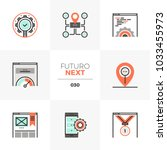 modern flat icons set of search ... | Shutterstock .eps vector #1033455973