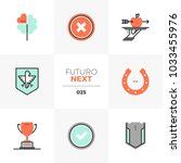 modern flat icons set of... | Shutterstock .eps vector #1033455976