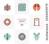 modern flat icons set of... | Shutterstock .eps vector #1033455979