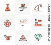semi flat icons set of business ...