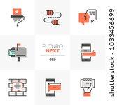 modern flat icons set of buzz... | Shutterstock .eps vector #1033456699