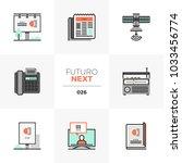semi flat icons set of... | Shutterstock .eps vector #1033456774