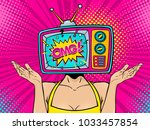 wow female face. sexy young... | Shutterstock .eps vector #1033457854