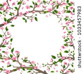 spring card template. spring... | Shutterstock . vector #1033457983
