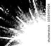 grunge halftone black and white ... | Shutterstock .eps vector #1033459324