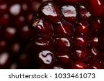 pomegranate seeds background | Shutterstock . vector #1033461073