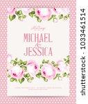 flower garland for invitation... | Shutterstock .eps vector #1033461514