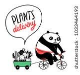 Cute Cartoon Panda Rides A...