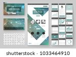 website template  one page... | Shutterstock .eps vector #1033464910