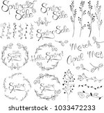 hello spring hand written... | Shutterstock .eps vector #1033472233