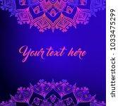 card design  mandala elements  ... | Shutterstock .eps vector #1033475299