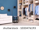 dressing room interior with big ... | Shutterstock . vector #1033476193