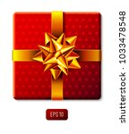 wrapped gift box icon with... | Shutterstock .eps vector #1033478548