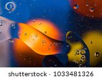 oil drops on water surface... | Shutterstock . vector #1033481326