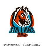 colorful logo  sticker  horse...   Shutterstock .eps vector #1033483069