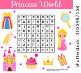word search puzzle kids... | Shutterstock .eps vector #1033487158
