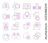 communication vector icons | Shutterstock .eps vector #1033488244