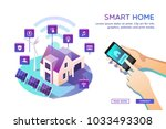 smart home. concept of house... | Shutterstock .eps vector #1033493308