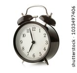retro alarm clock isolated on... | Shutterstock . vector #1033497406
