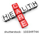 health care concept. sign as... | Shutterstock . vector #103349744