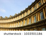 Small photo of Bath (Somerset, UK). View of the Royal Circus buildings facade, a preeminent example of Georgian architecture.