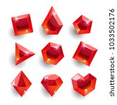 gems set. cartoon red different ... | Shutterstock .eps vector #1033502176